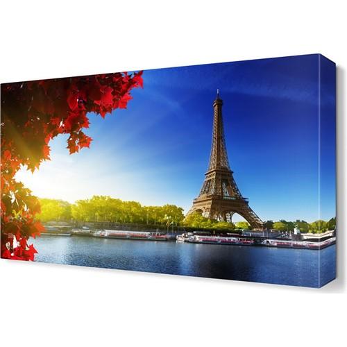 Dekor Sevgisi Kırmızı Çiçekler ve Eyfel Kulesi Tablosu 45x30 cm