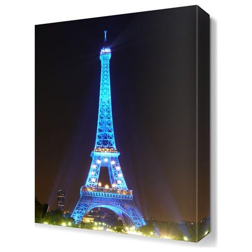 Dekor Sevgisi Mavi Eyfel Kulesi Tablosu 45x30 cm