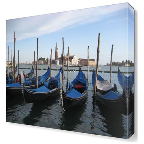 Dekor Sevgisi Venedik Kayıklar Şehir Tablosu 45x30 cm