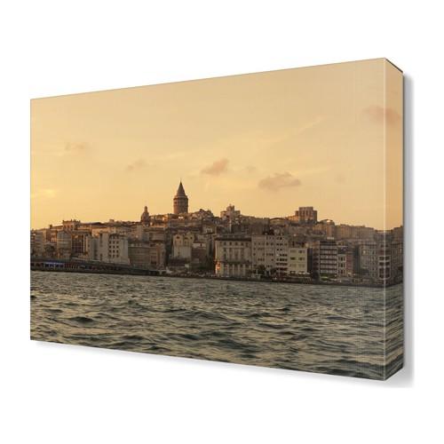 Dekor Sevgisi Galata Kulesi ve Büyük Şehir Tablosu 45x30 cm