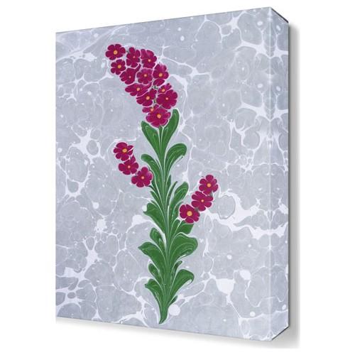 Dekor Sevgisi Dekoratif Mor Çiçek Tablosu 45x30 cm