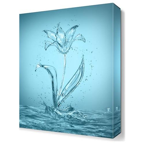 Dekor Sevgisi Sudan Çiçek Tablosu 45x30 cm