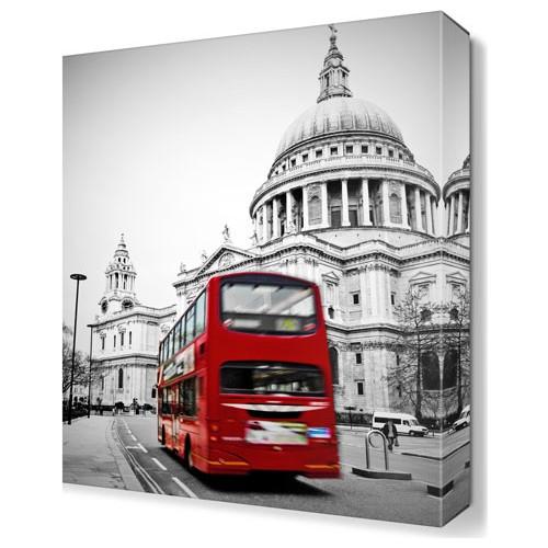 Dekor Sevgisi Kırmızı Otobüs Tablosu 45x30 cm