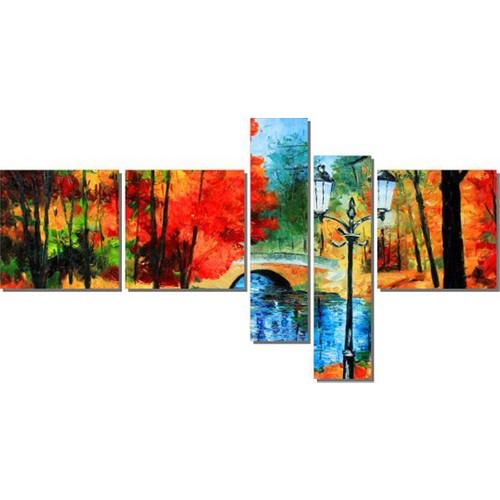 Dekor Sevgisi Köprü ve Ağaçlar Tablosu 90x170 cm