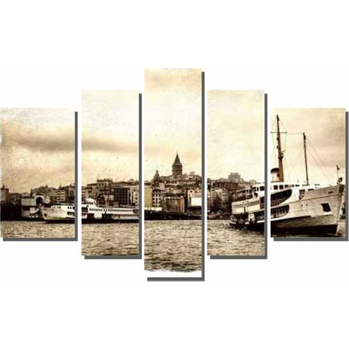 Dekor Sevgisi Nostalji Galata Kulesi Tablosu 84x135 cm