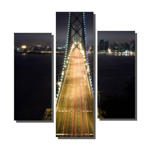Dekor Sevgisi 3 Parçalı Bridge Tablosu 80x80 cm