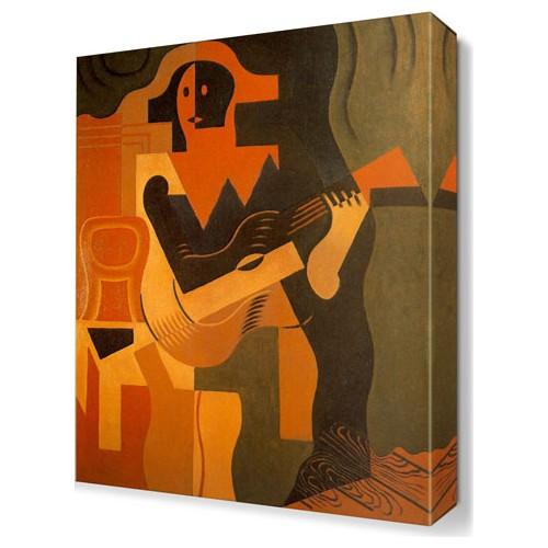 Dekor Sevgisi Alacalı Gitarı Canvas Tablo 45x30 cm