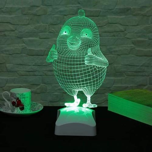 Decor Desing 3 Boyutlu Tombul Kuş Lamba V23D050