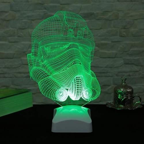 Decor Desing 3 Boyutlu Stormtrooper Starwars Lamba V23D147