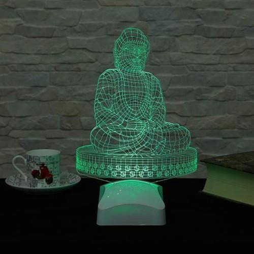Decor Desing 3 Boyutlu Buddha Lamba V23D189