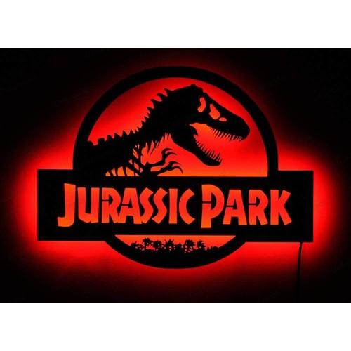 Decor Desing Gölge Lamba Jurassic Park Sembolü Glmb013