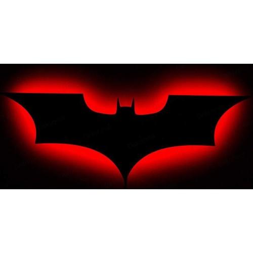 Decor Desing Gölge Lamba Kırmızı Batman Sembolü Glmb015