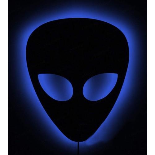 Decor Desing Gölge Lamba Mavi Alien Sembolü Glmb023