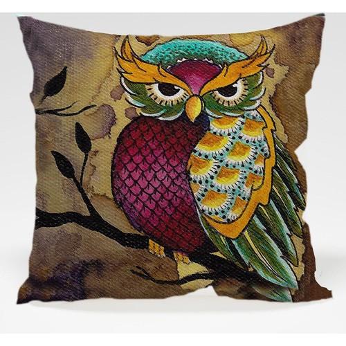 Decor Desing Baykuş Yastık Kılıfı Owl006