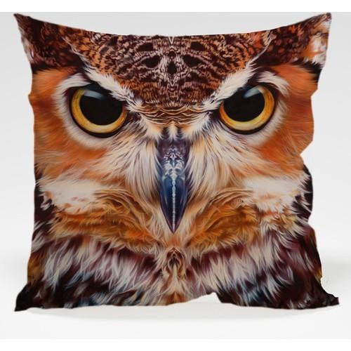 Decor Desing Baykuş Yastık Kılıfı Owl007