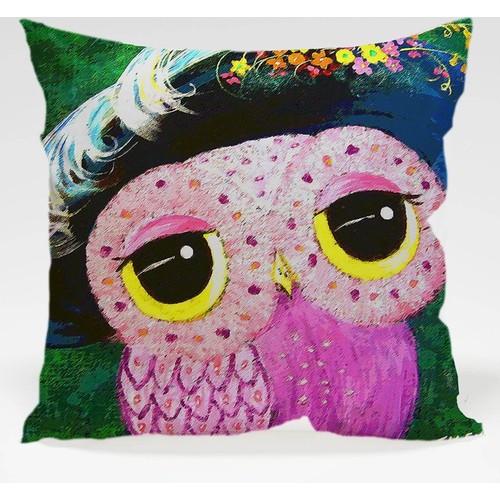 Decor Desing Baykuş Yastık Kılıfı Owl015