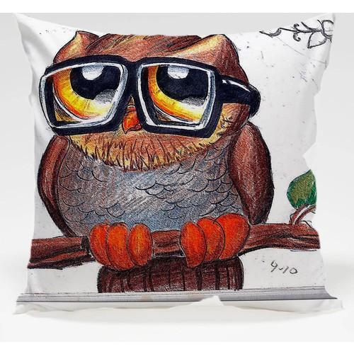Decor Desing Baykuş Yastık Kılıfı Owl019