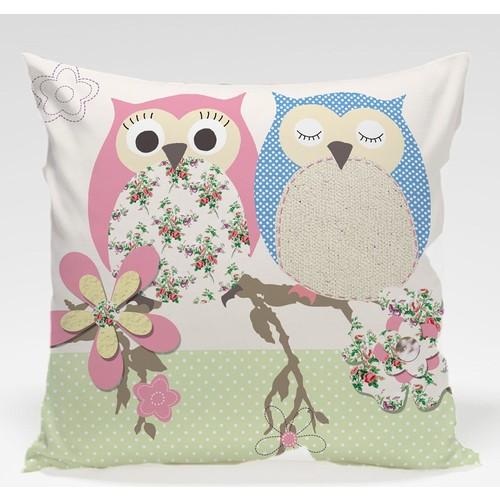 Decor Desing Baykuş Yastık Kılıfı Owl036