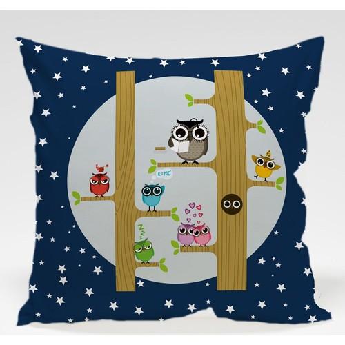 Decor Desing Baykuş Yastık Kılıfı Owl055