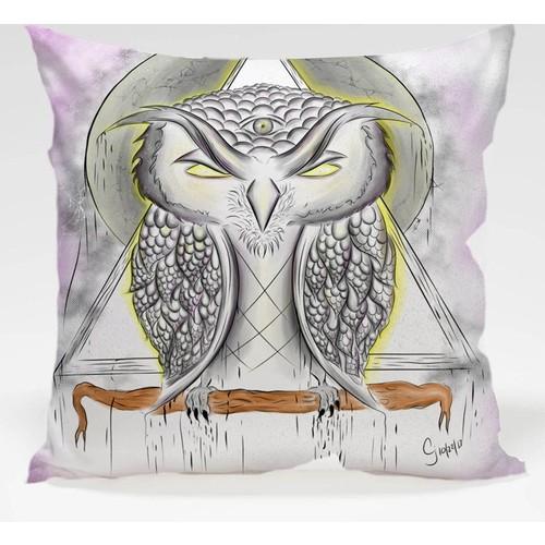 Decor Desing Baykuş Yastık Kılıfı Owl072