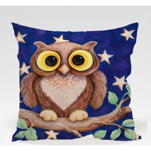 Decor Desing Baykuş Yastık Kılıfı Owl075