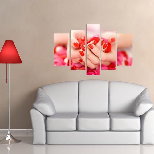 Decor Desing 5 Parçalı Dekoratif Tablo Dec024