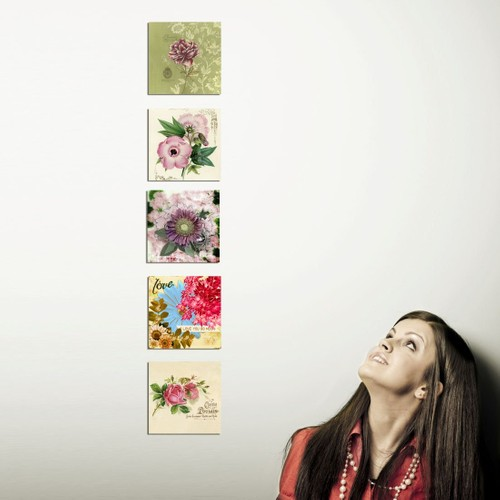 Decor Desing Dekoratif 5'li Tablo Utb22