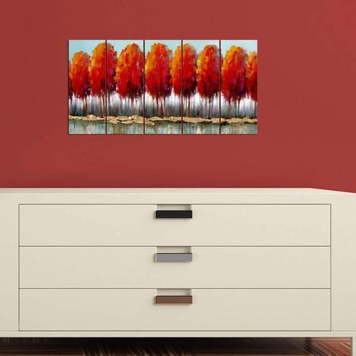 Decor Desing Dekoratif Beş Li Mdf Tablo Xtp296