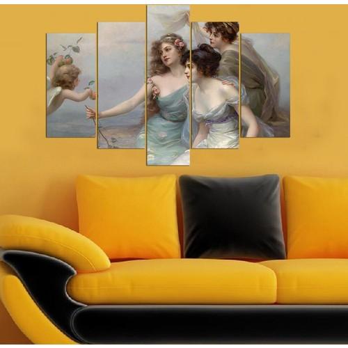 Decor Desing 5 Parçalı Dekoratif Tablo Y5Tp007