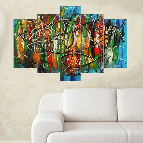 Decor Desing 5 Parçalı Dekoratif Tablo Y5Tp012