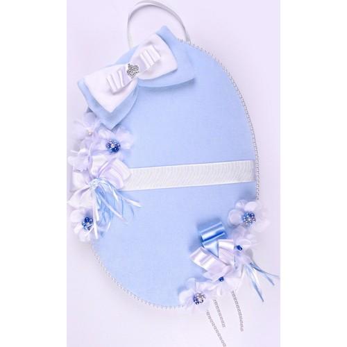 Küçük Rüyalar Kp023 Bebek Kapı Süsü Mavi