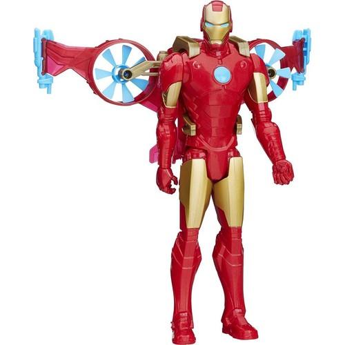 Marvel Avengers Titan Hero Araç Ve Figür - Iron Man Ve Hovercraft