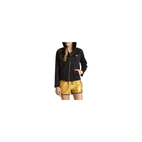Puma Mesh Hooded Track Jacket Black