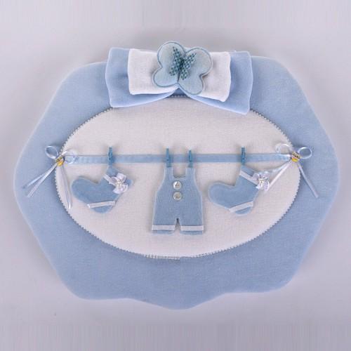 Küçük Rüyalar Kp014 Bebek Kapı Süsü Mavi