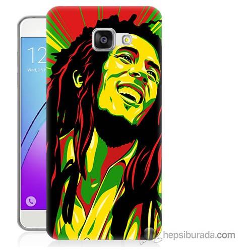 Bordo Samsung Galaxy A3 2016 Bob Marley Baskılı Silikon Kapak Kılıf