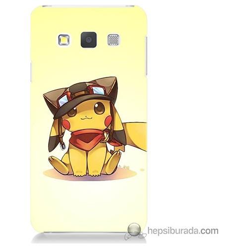 Bordo Samsung Galaxy A3 Pokemon Baskılı Silikon Kapak Kılıf