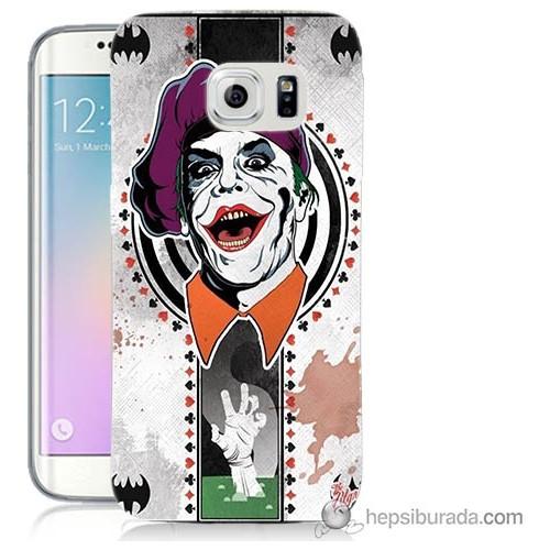 Bordo Samsung Galaxy S6 Edge Plus Joker Baskılı Silikon Kapak Kılıf