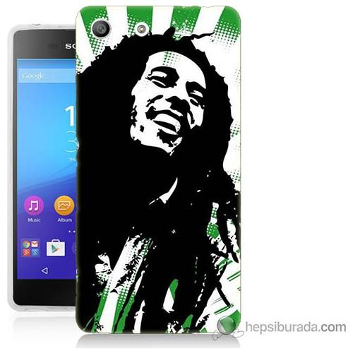 Bordo Sony Xperia M5 Bob Marley Soft Baskılı Silikon Kapak Kılıf