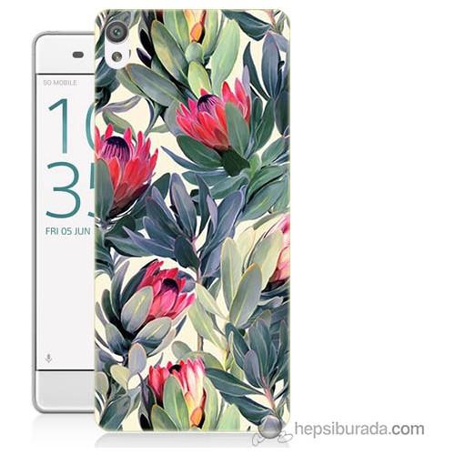 Bordo Sony Xperia Xa Tablo Resim Baskılı Silikon Kapak Kılıf