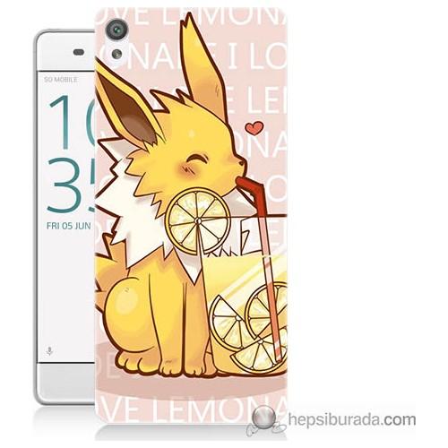 Bordo Sony Xperia Z5 Compact Sevimli Pokemon Baskılı Silikon Kapak Kılıf