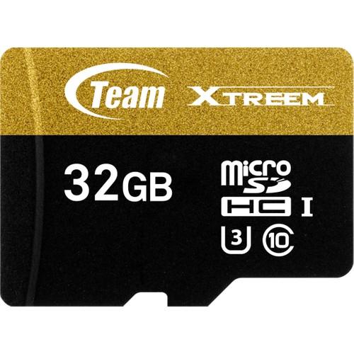 Team Xtreem 32GB 4K UHD ile Tam Uyumlu 90mb/sn Micro SD UHS-I U3 Flash Hafıza Kartı + SD Dönüşrücü(TMMSD32GU390)