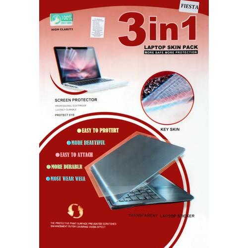 Fiesta Notebook ekran koruyucu + Arka kapak koruyucu + Ekran temizleme kiti