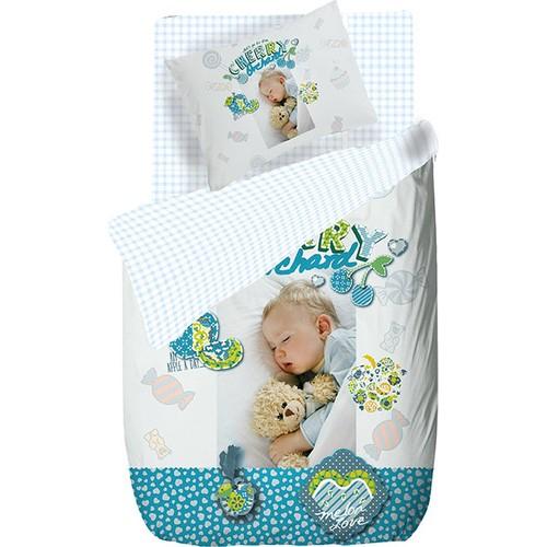 Canarino Digital Bebe Nevresim Takımı Neil Mavi