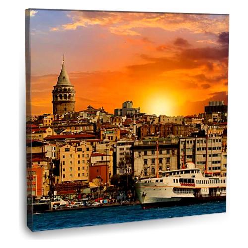 Fotografyabaskı Galata Kulesi Tablosu İstanbul 70 Cm X 70 Cm Kanvas Tablo Baskı