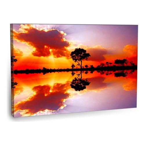 Fotografyabaskı Gün Batımı Tablo Güney Afrika 75 Cm X 50 Cm Kanvas Tablo Baskı