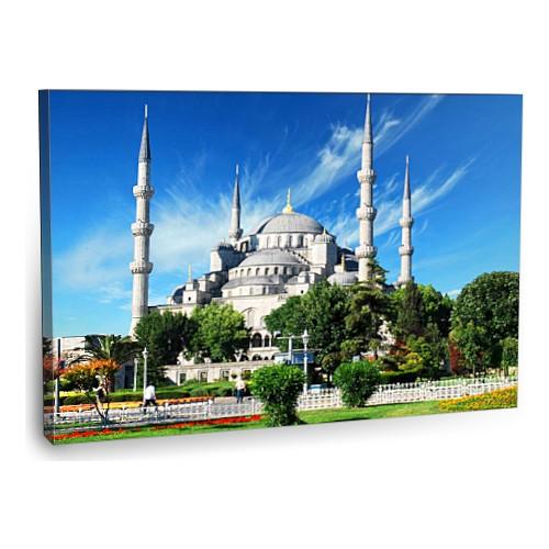 Fotografyabaskı Sultanahmet Camii Tablosu İstanbul 75 Cm X 50 Cm Kanvas Tablo Baskı