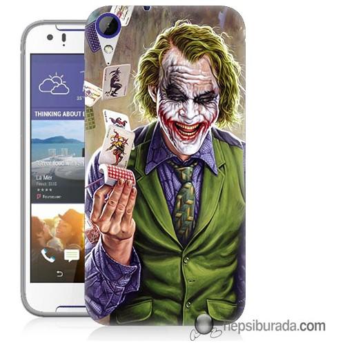 Teknomeg Htc Desire 830 Kılıf Kapak Kartlı Joker Baskılı Silikon