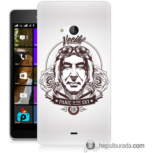 Teknomeg Microsoft Lumia 540 Kılıf Kapak Vecihi Baskılı Silikon