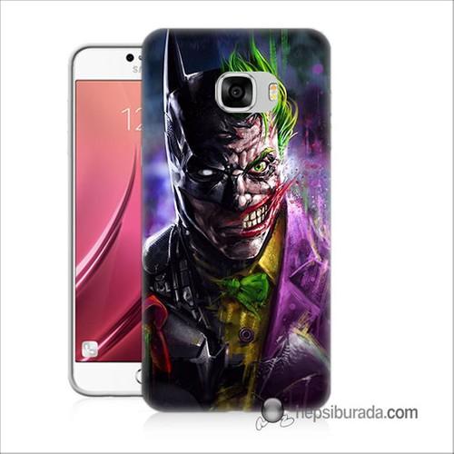 Teknomeg Samsug Galaxy C7 Kılıf Kapak Batman Vs Joker Baskılı Silikon