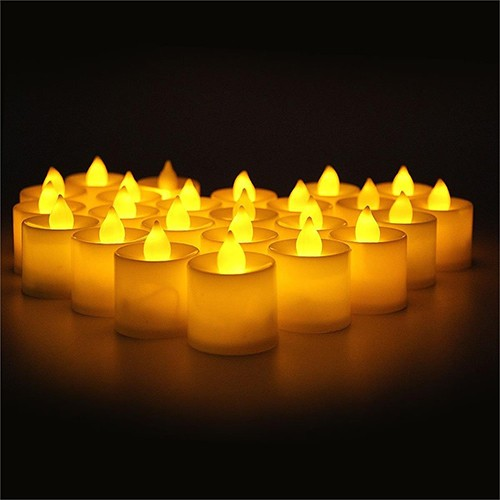 Tvshopmarket Toptan Led Tea Light Mum ( Sarı Işık )